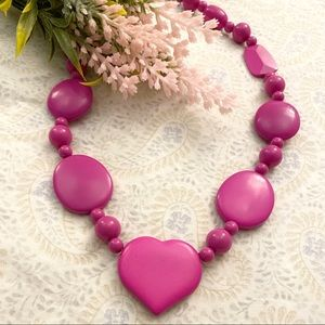 Pink heart 💖 necklace